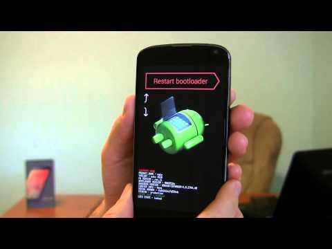 Google Nexus 4 how to reset phone