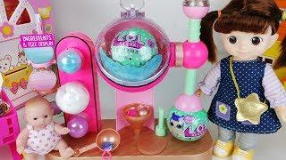 Baby doll and LOL Surprise bath FIZZ Factory MAKER toys Bath Bombs play  아기인형 LOL 서프라이즈 바스볼 메이커 장난감