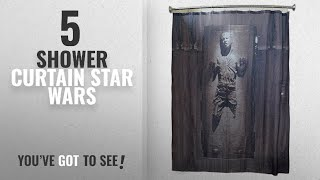 Top 10 Shower Curtain Star Wars [2018]: Han Solo in Carbonite Shower Curtain