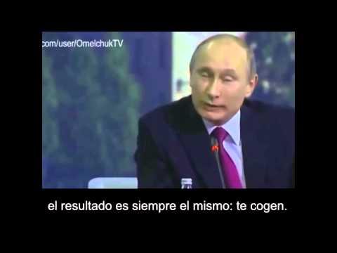 El genial Putin orienta a Angela Merkel