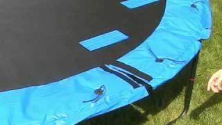 JumpSport Trampoline Frame Pad Installation