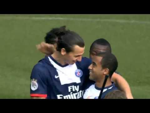 ▶ Zlatan Ibrahimovic AMAZING Backheel Goal - PSG BASTIA 4-0 [19/10/13]