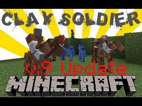 Minecraft: Clay Soldiers Mod v9 Update. BRICKS!
