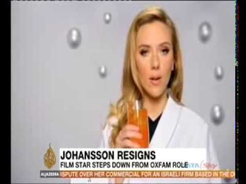 Scarlett Johansson quits as Oxfam ambassador after SodaStream row