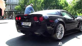 CHEVROLET CORVETTE C6 ZR1 - REVS AND HARD ACCELERATION