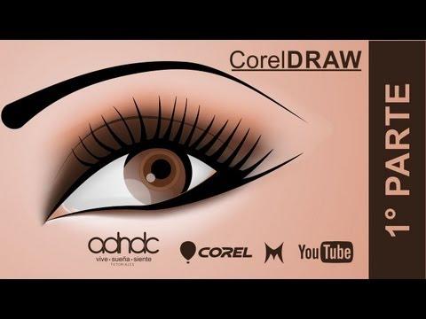 CorelDRAW, Realiza un ojo con las herramientas, malla y bezier. 1/2 @ADNDC @adanjp