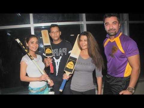 BCL Team Rowdy Bangalores Match Practice   Rakhi Sawant, Ajaz Khan !