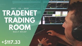 Tradenet Trading Room, July 22: Struggling To Stay Afloat! Scott Earns +$117.33 In Profits!