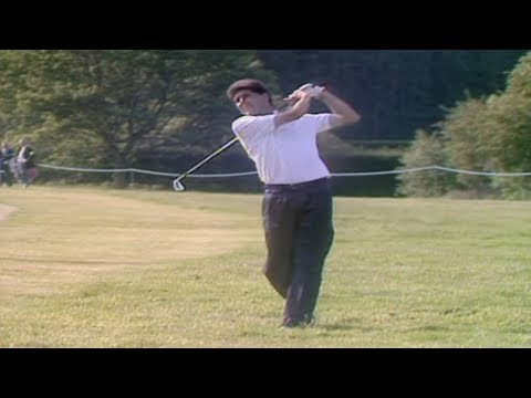 Bizarre golf shot --Jose Maria Olazabal