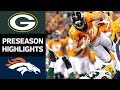 Packers vs. Broncos | NFL Preseason Week 3 Game Highlights MP3