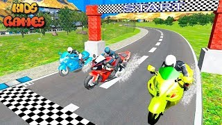 Gameplay Android Game 2019: Fast Motor Bike Rider 3D - Heavy Bike Racing Games