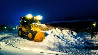 ARCTIC STORM DUMPED SNOW DEEP SNOW PLOWING