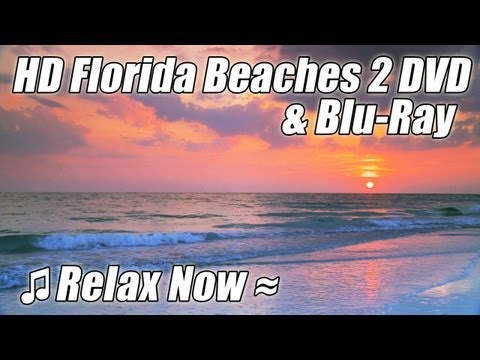 HD FLORIDA BEACHES 2 / WAVES Relaxation Nature Video Trailer DVD & BLU-RAY w/ Ocean Sounds Relax
