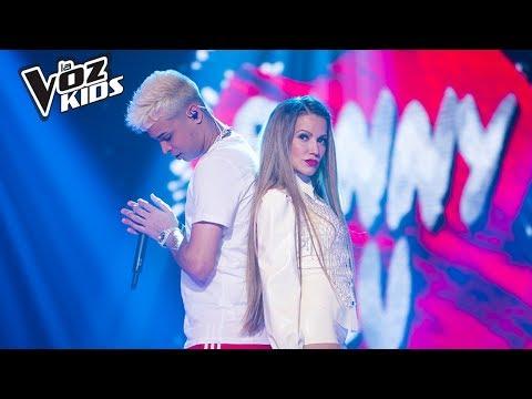 Fanny Lu y Noriel cantan Romper el Hielo - Batallas   La Voz Kids Colombia 2018