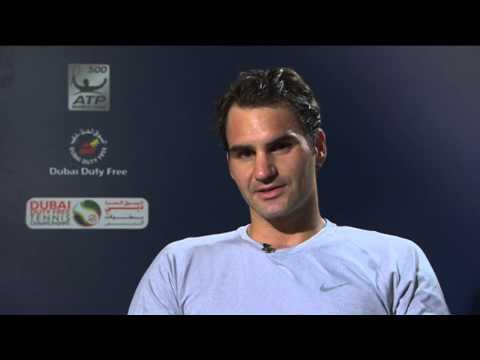 Dubai 2014 Thursday Interview Federer