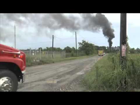 Fire at oil storage tank farm in Sour Lake
