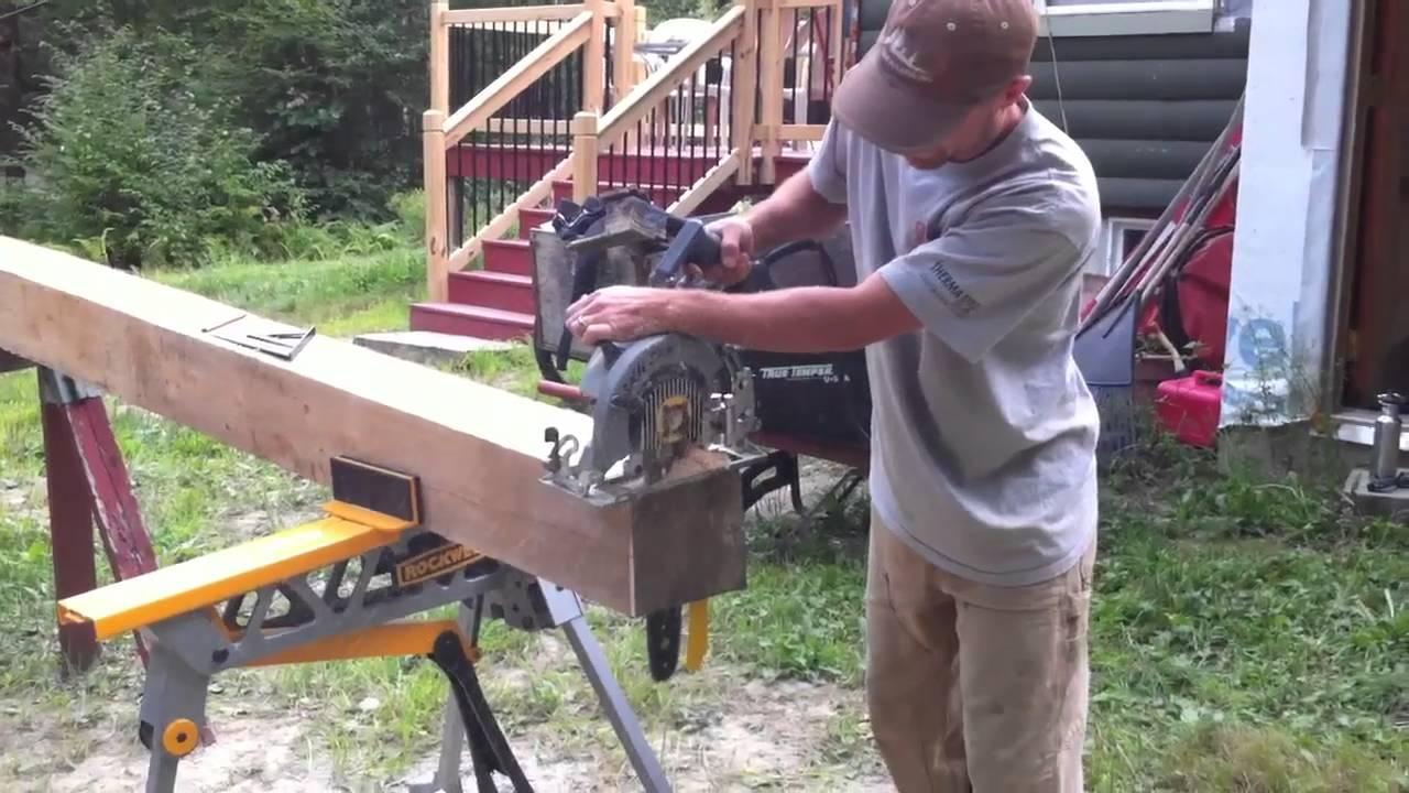 Prazi beam cutter on rough cut post youtube