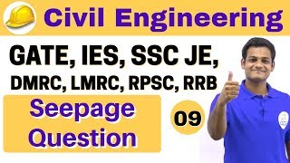 3:00 PM   Civil by Nikhil Sir   Day #09    Seepage Question