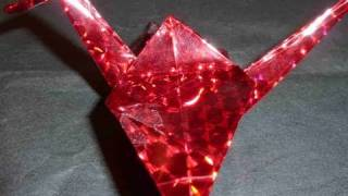 How To Make Traditional 3d Shiny Crane Easy Origami  Gra  uraw