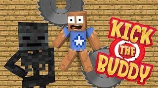 Monster School : KICK THE BUDDY CHALLENGE - Minecraft Animation