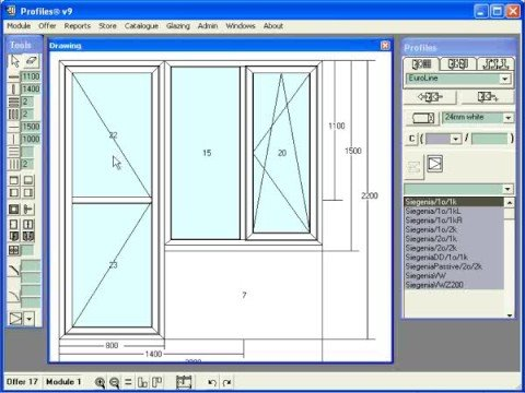 Ccg profiles software for windows and doors design and Sketch software for windows