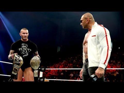 WWE Raw 1/20/14 Batista returns to WWE 2014 Full Segment