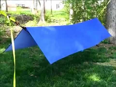0 Compact Hammock Shelter using Tie Down Straps
