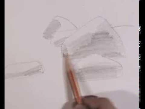 Видео как нарисовать камень карандашом поэтапно