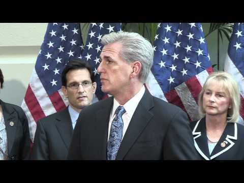 House Majority Whip Kevin McCarthy At A Weekly House Republican Leadership Press Conference 2/28/12