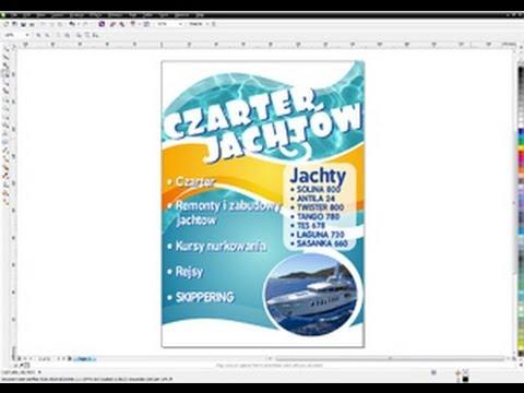 CorelDRAW x6 - Tutorial PL: jak stworzyć plakat - część 1