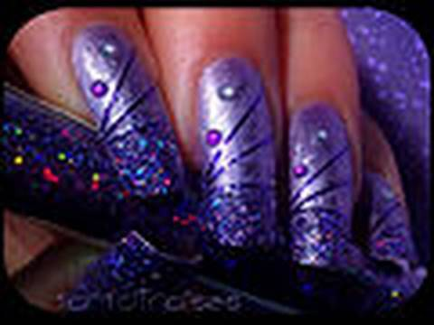 Purple Nail Designs for Prom