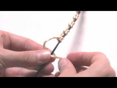 Abalorios Manualidades - Pulsera macrame sencilla 2