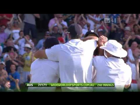 Mitchell Johnson's golden duck at the Ashes 5th Test