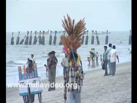 Beach vendors at Kozhikode
