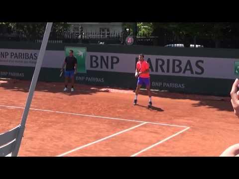 Grigor Dimitrov & Andy Murray Practice RG 2015