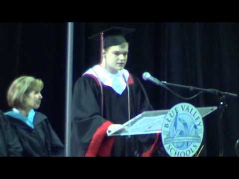 Zach Hills, Blue Valley West High School commencement speaker, May 18, 2013