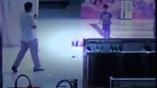 2 yo boy falling from escalator