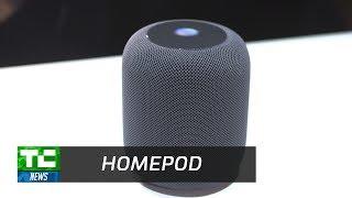 Apple's HomePod Smart Speaker up close