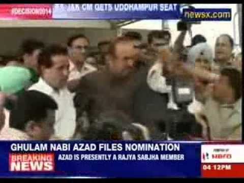 Gulam Nabi Azad files nomination from Uddhampur seat