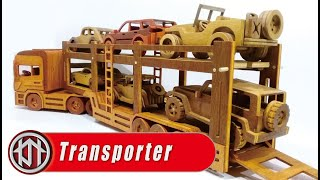 Wooden trailer transporter truck SCANIA