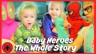 The Whole Story: Baby Heroes Hulk & Supergirl w kid deadpool, spiderman, pink girlpool SuperHeroKids