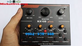 Hướng dẫn sử dụng Sound Card KX109 - V9 Phiên bản mới nhất