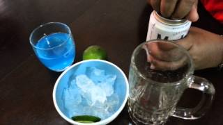 HOW TO MAKE A GREEN BEER,COMO PREPARAR UN TRAGO DE CERVEZA VERDE