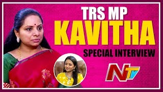 MP Kavitha Hilarious Interview with Anchor Suma | #GiftAHelmet | #SistersForChange | NTV