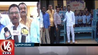 Visaka Charitable Trust Donate Benches To Govt School In Dharmaram Mandal | Peddaplli