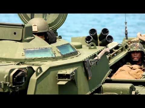 Philippine and U.S. Marines Storm the Beaches