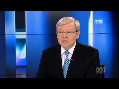 Leigh Sales Smashes Kevin Rudd with some hard questions
