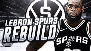LEBRON JAMES SIGNS WITH SPURS REBUILD! NBA 2K18