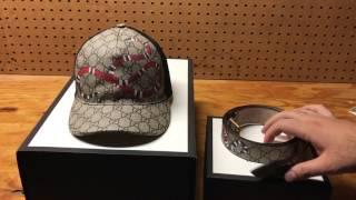 Gucci Snake print GG Supreme Belt And Baseball Hat Review