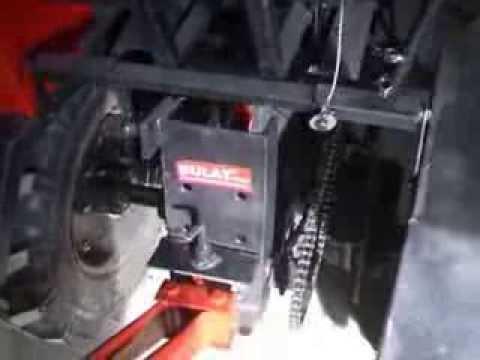 Механический подъемник на минитрактор